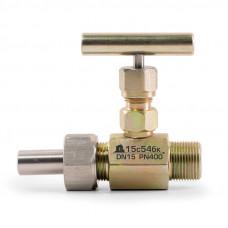Клапан игольчатый TDDA2304 15нж54бк с СШН. Штуцерно-ниппельный монтаж