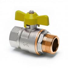 Кран шаровый газовый TDTA1604 муфта-штуцер (ручка; бабочка)