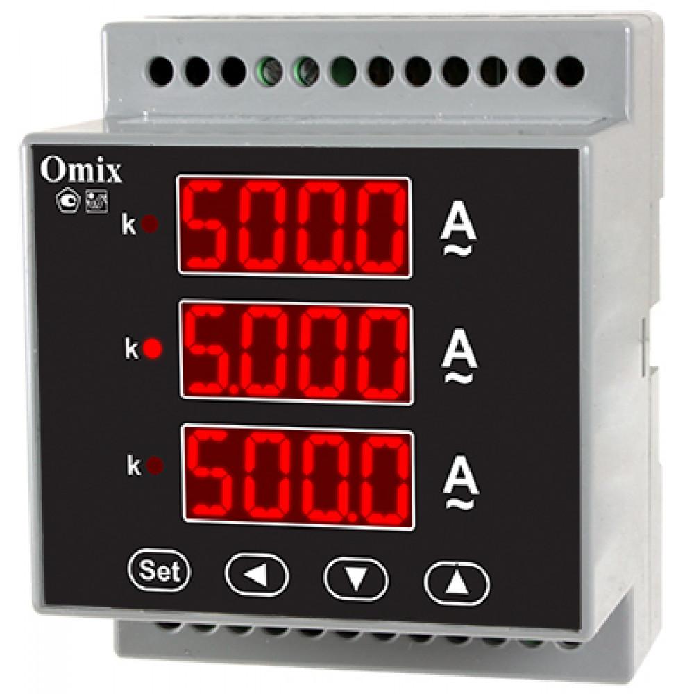 Амперметр трехфазный на DIN-рейку Omix D4-AX-3-0.5
