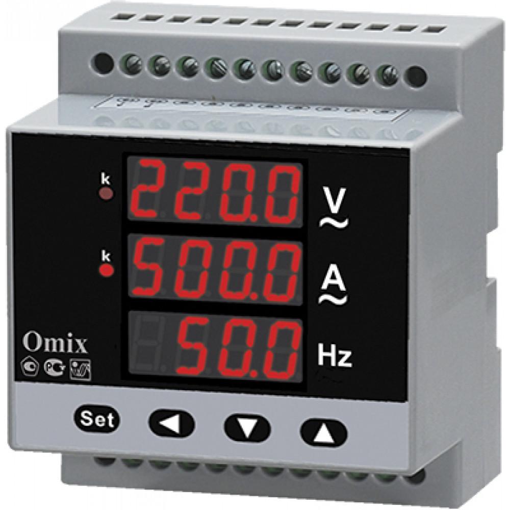 Мультиметр однофазный на DIN-рейку Omix D4-M-1-0.5