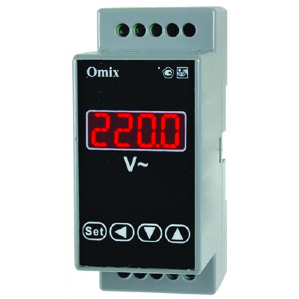 Вольтметр однофазный на DIN-рейку Omix D2-V-1-0.5