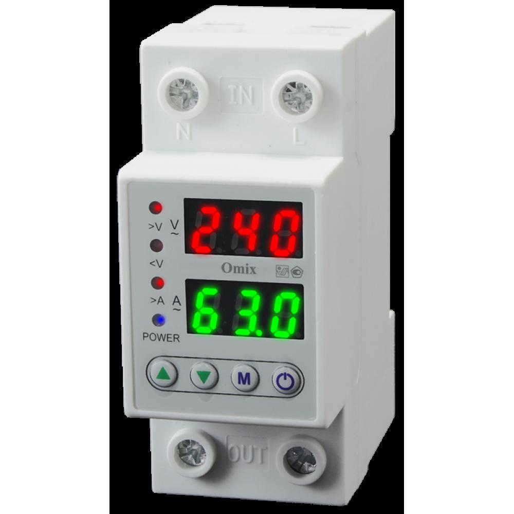 Вольтамперметр однофазный на DIN-рейку Omix D2-AV2-1-K6