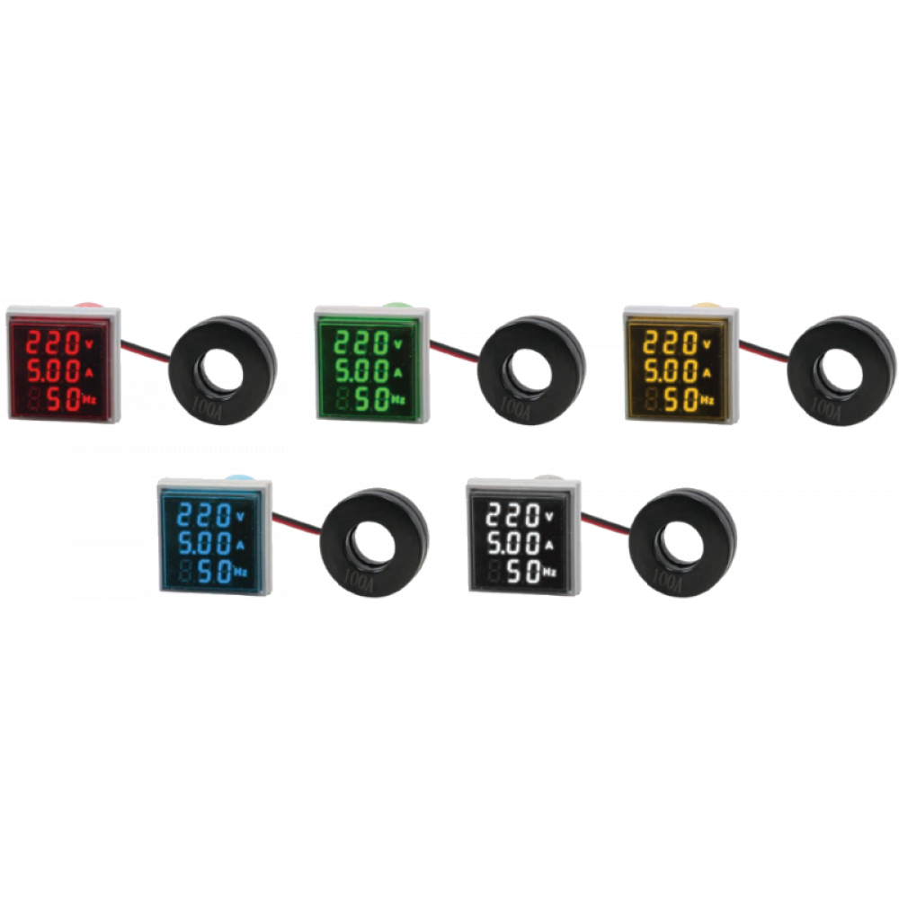 Цифровой индикатор напряжения, силы тока и частоты Omix T33-M3-1
