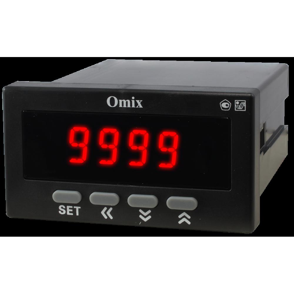 Щитовой индикатор аналогового сигнала с релейным выходом Omix P94-DV1-AS-K