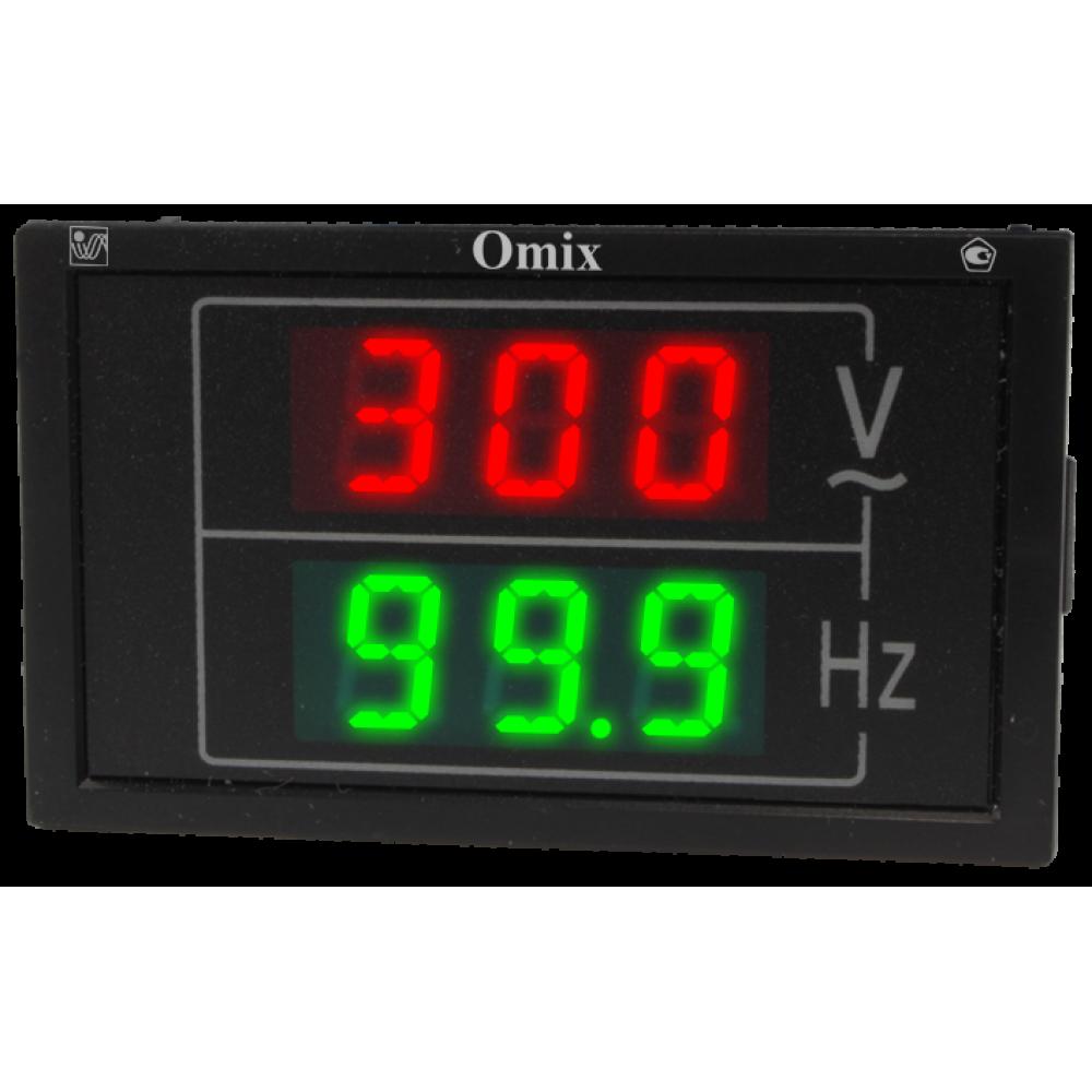 Индикатор напряжения и частоты однофазный щитовой Omix PQ74-VF2-1
