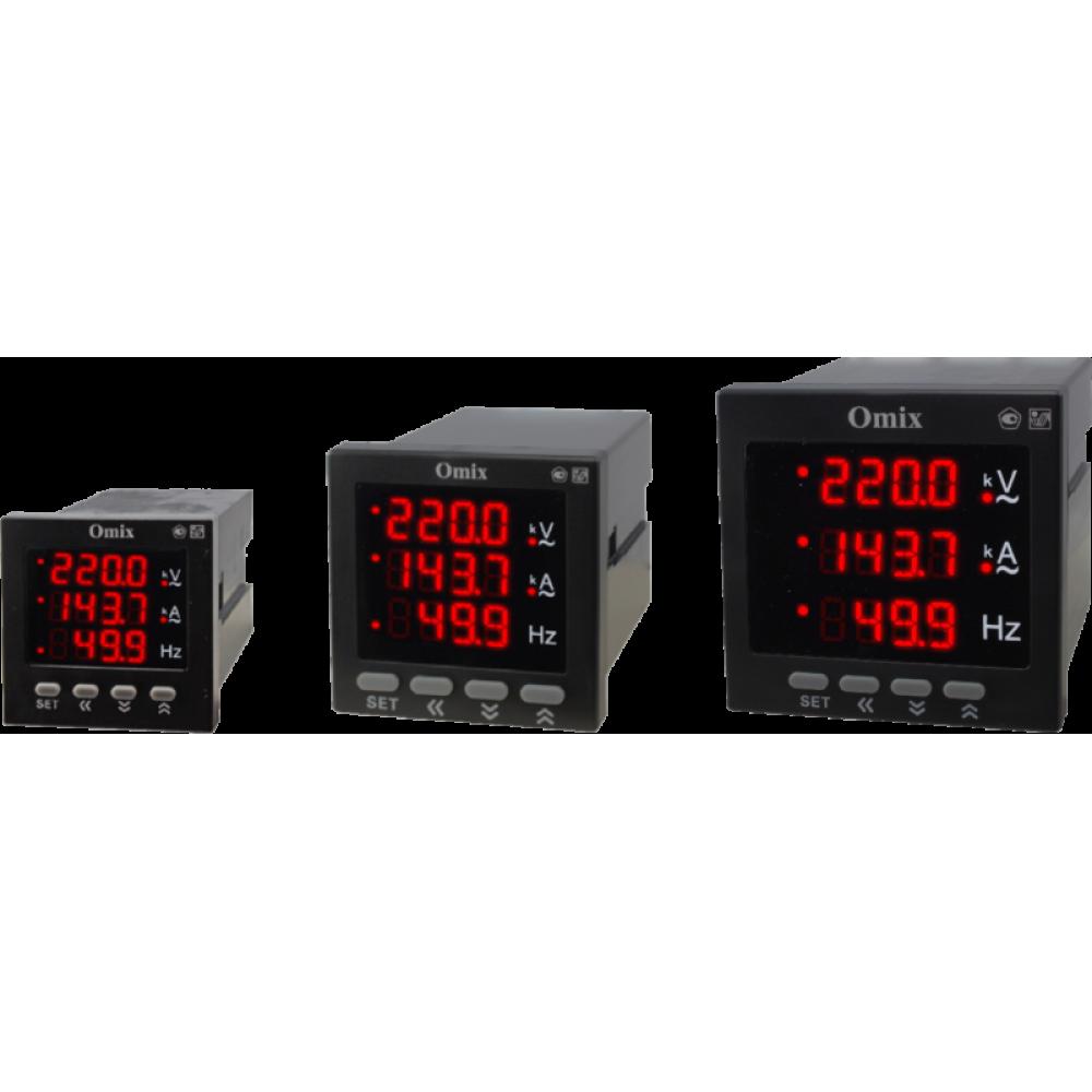 Мультиметр однофазный щитовой с релейным выходом и RS-485 Omix M3-1-K-RS485-N2