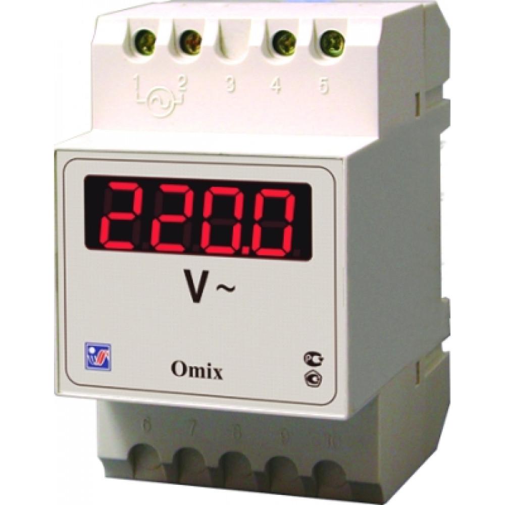 Вольтметр цифровой на DIN-рейку Omix D3-V-1-0.5