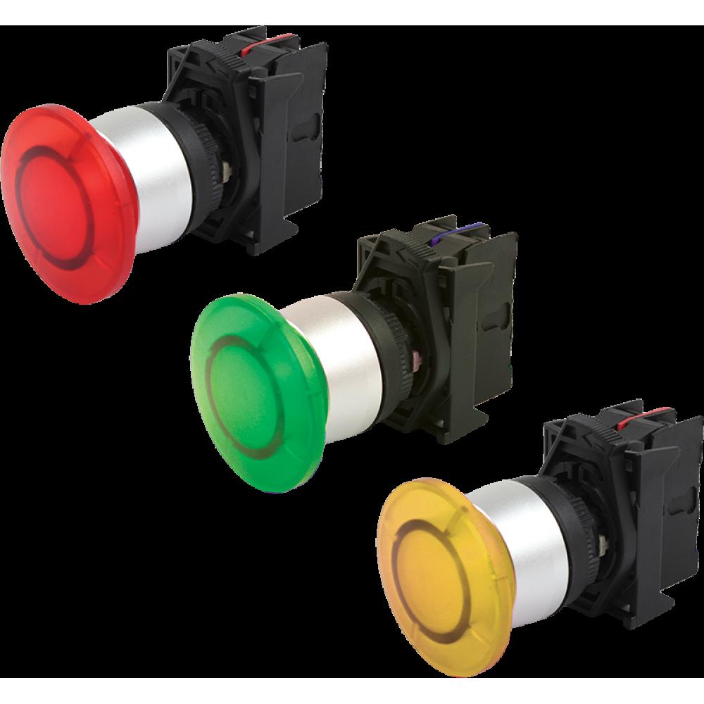 Кнопка грибовидная с подсветкой AR-LA800E