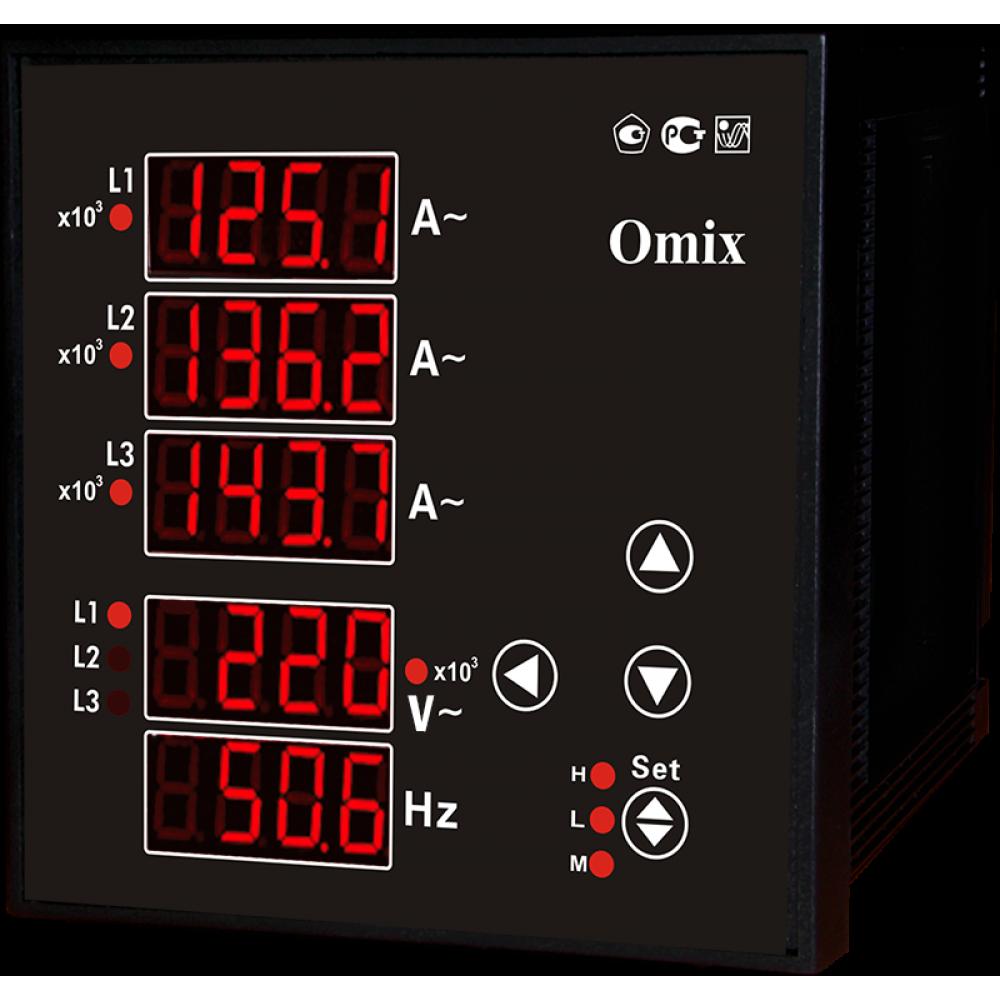 Мультиметр трехфазный щитовой Omix P99-M(AVF)-3-0.5