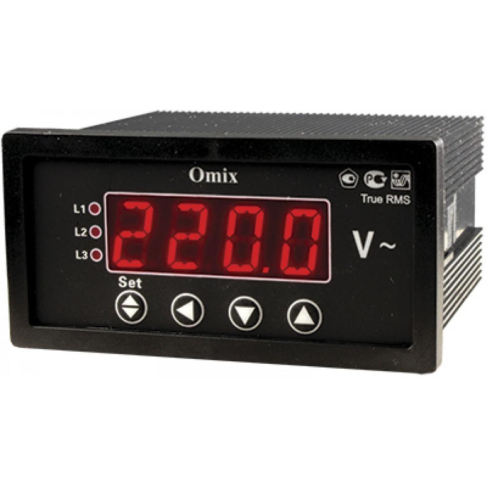 Вольтметр трехфазный щитовой Omix P94-V-3-0.5-TrueRMS