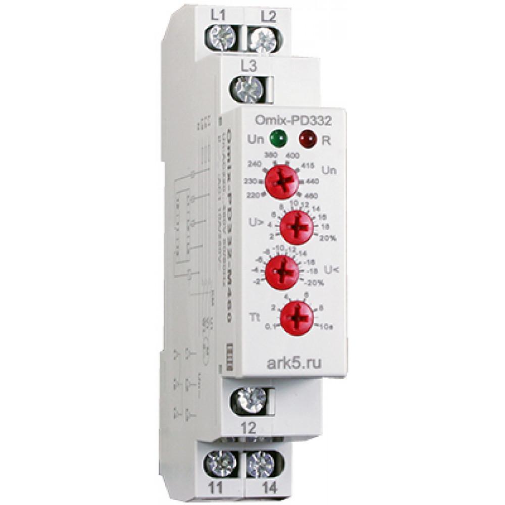 Реле контроля трехфазного напряжения Omix-PD-332