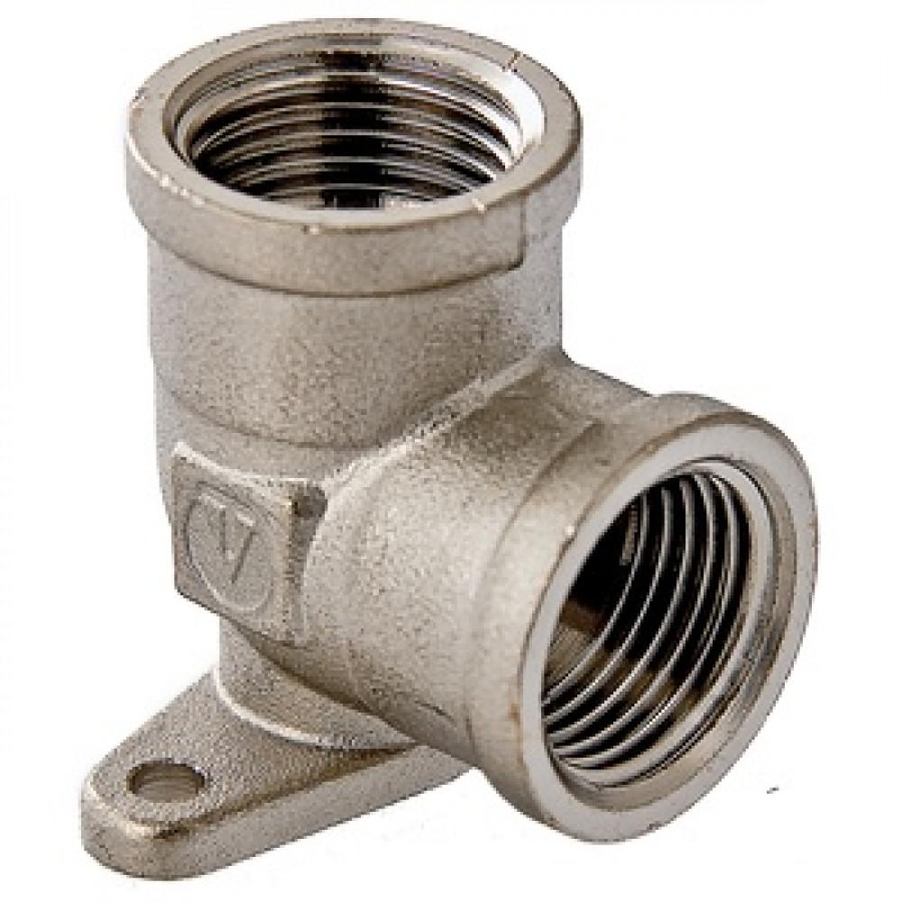 Фитинг резьбовой – угольник с креплением (водорозетка)